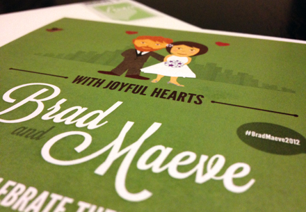 Brad and Maeve Wedding Invitations